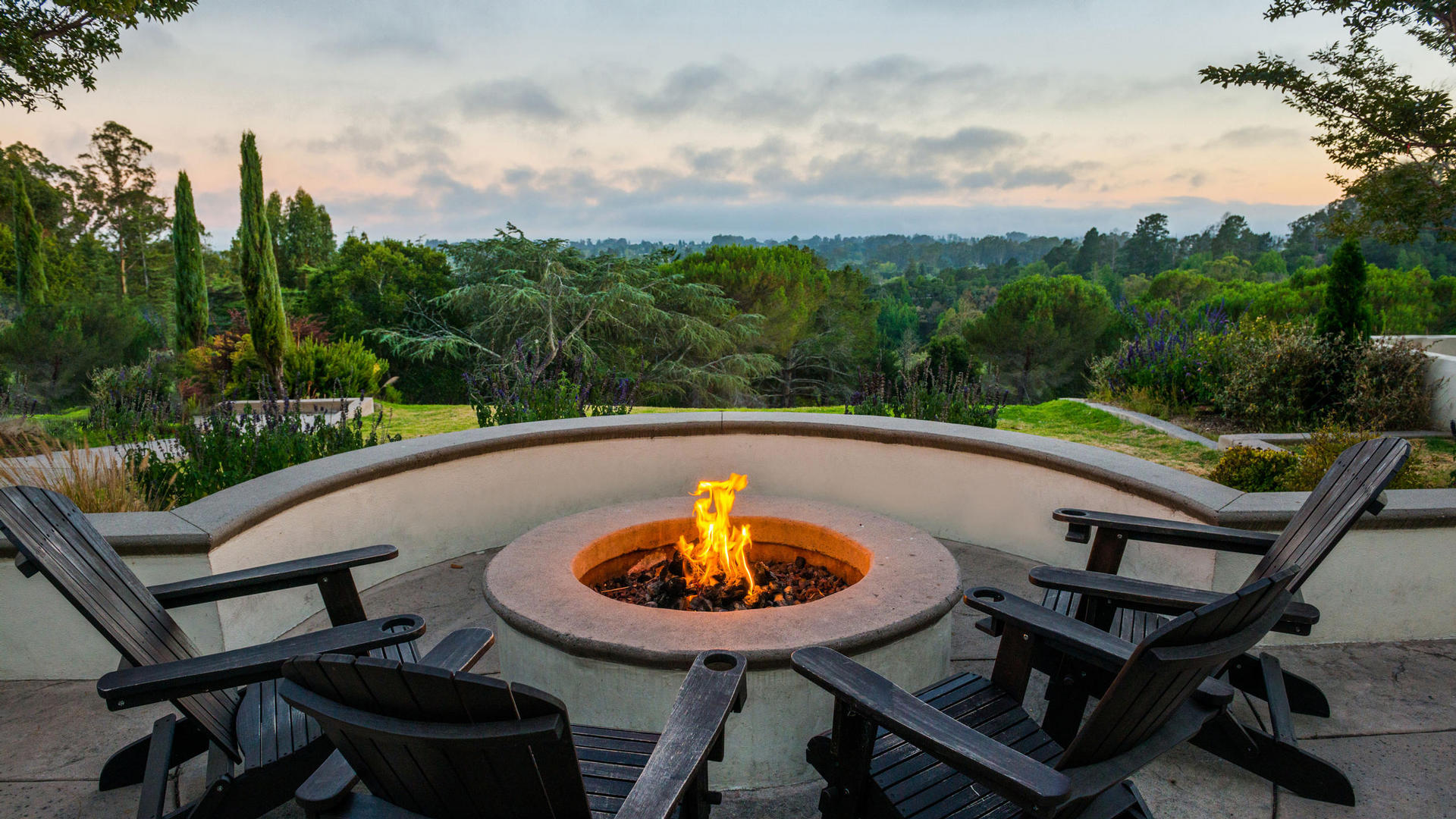 Outdoor Fire Pit at Chaminade Resort & Spa