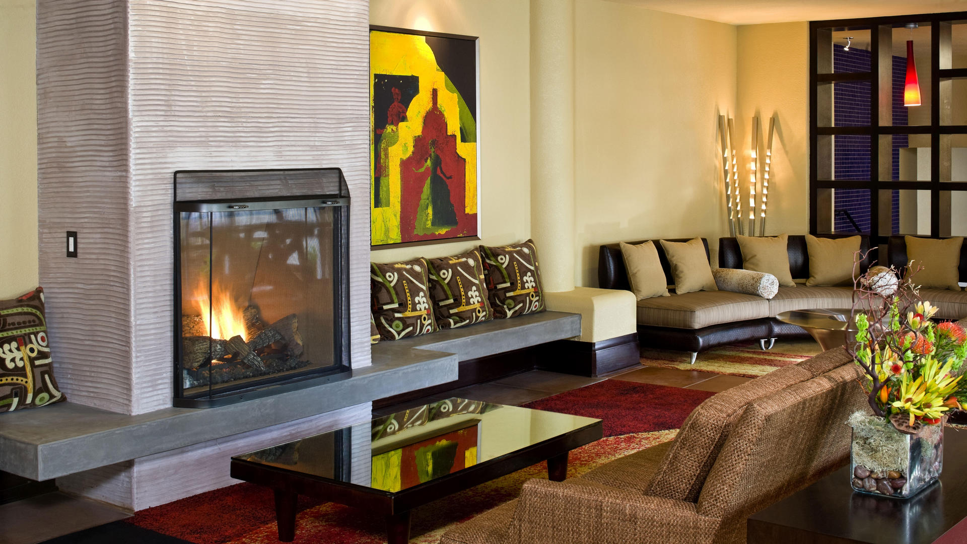 Cozy Fireplace at Chaminade Resort & Spa in Santa Cruz
