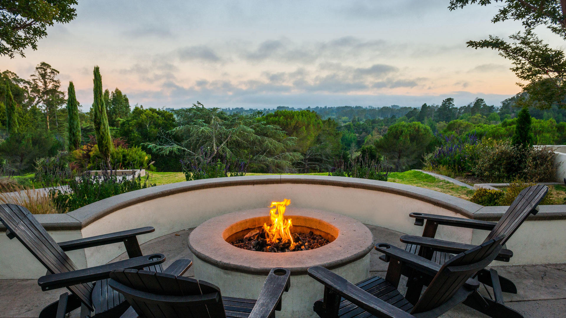 Fire Pit at Chaminade Resort & Spa in Santa Cruz, CA