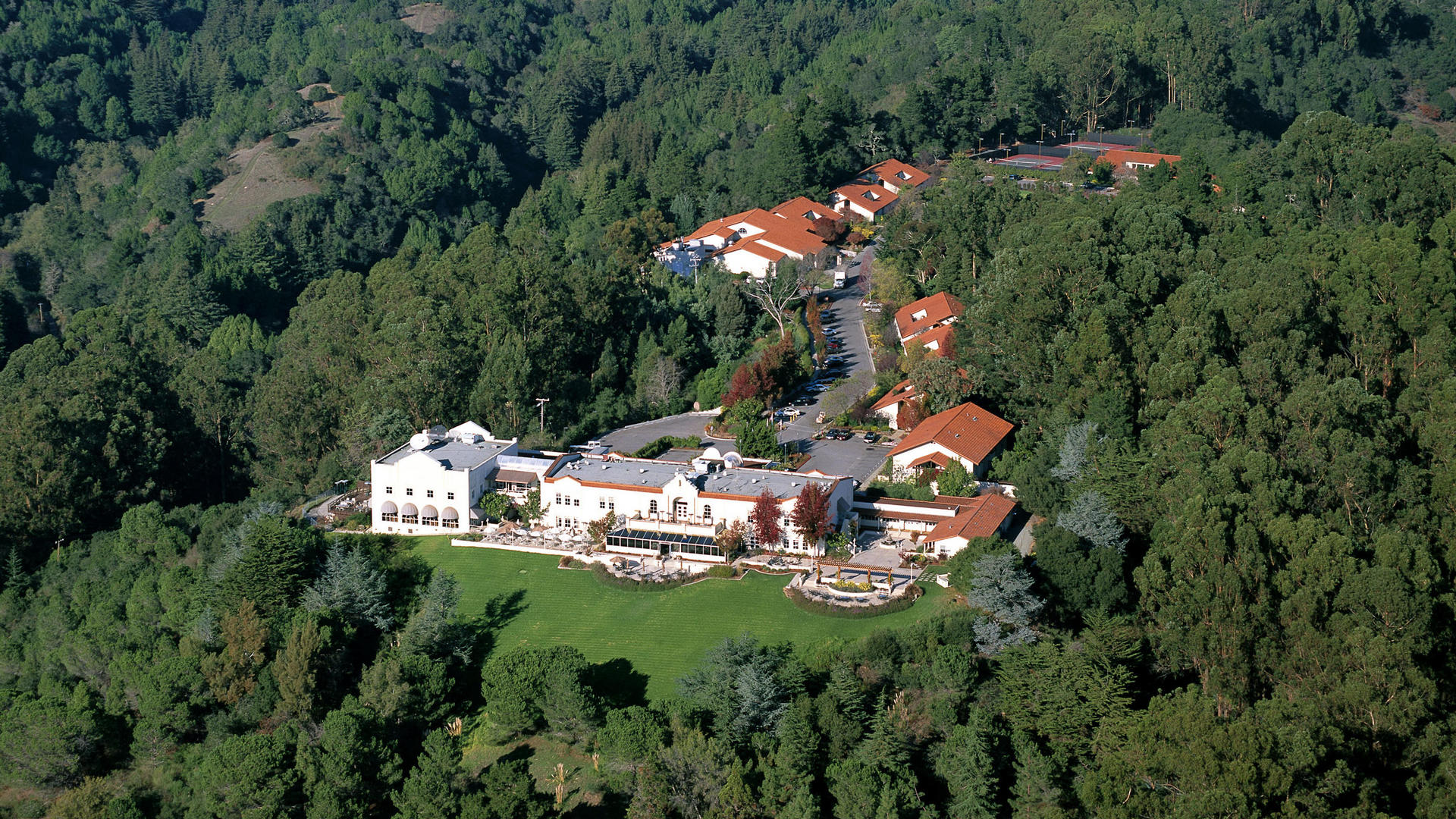Aerial Views of Chaminade Resort & Spa in Santa Cruz
