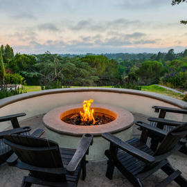 Fire Pit at Chaminade Resort & Spa in Santa Cruz