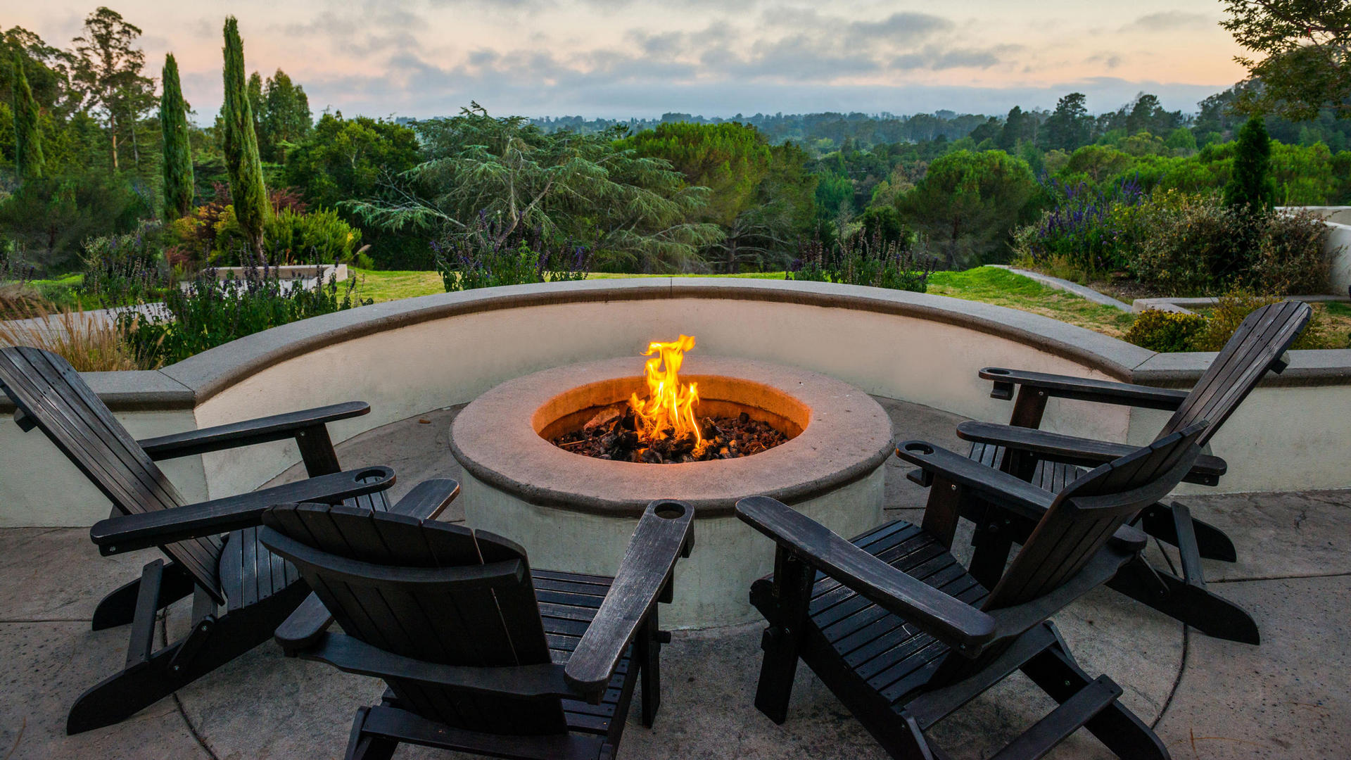 Fire Pit at Chaminade Resort & Spa