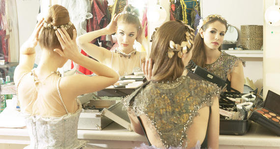 actresses getting ready