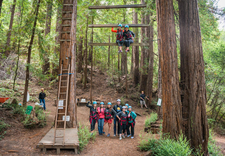 Outdoor Team Building Exercises at Chaminade Resort & Spa in Santa Cruz