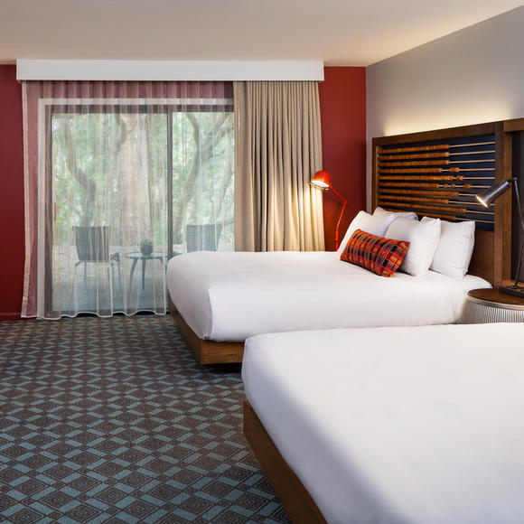 Queen Beds at Chaminade Resort & Spa in Santa Cruz