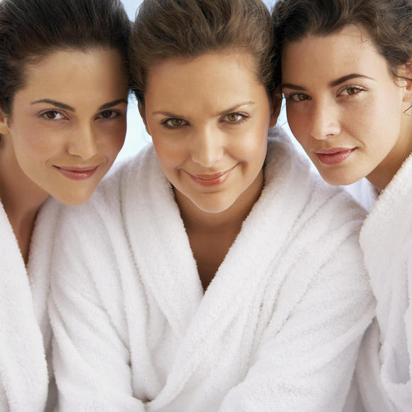 three women at the spa
