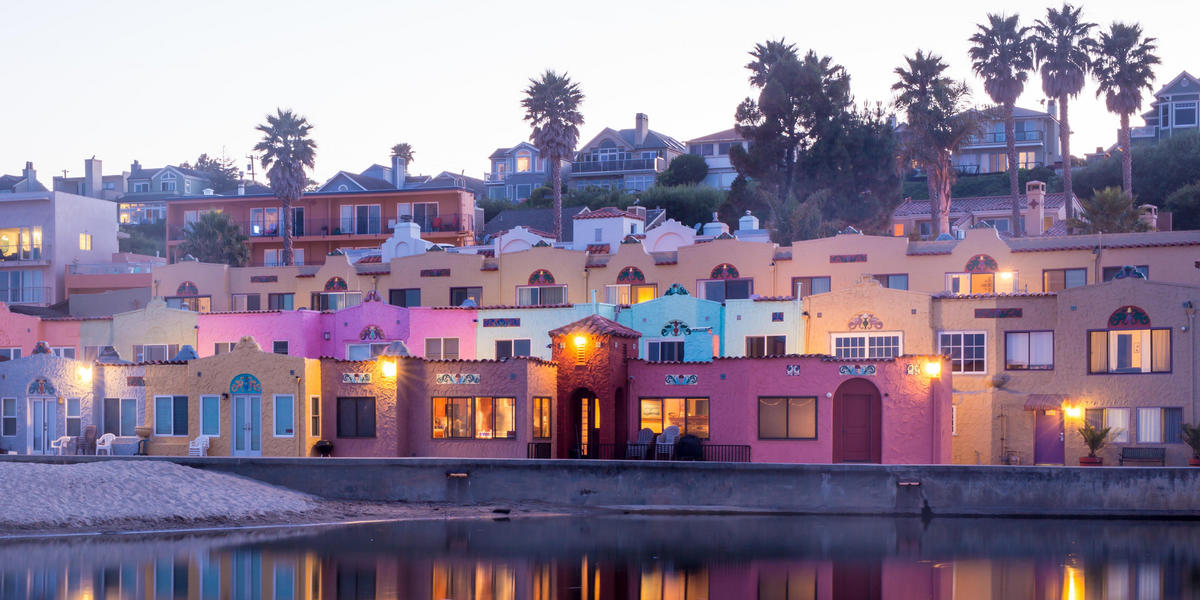 View of Capitola Village from the water